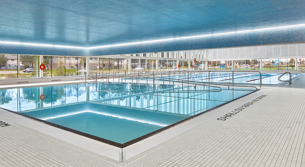 Indoor leisure pool at the Bostwick YMCA