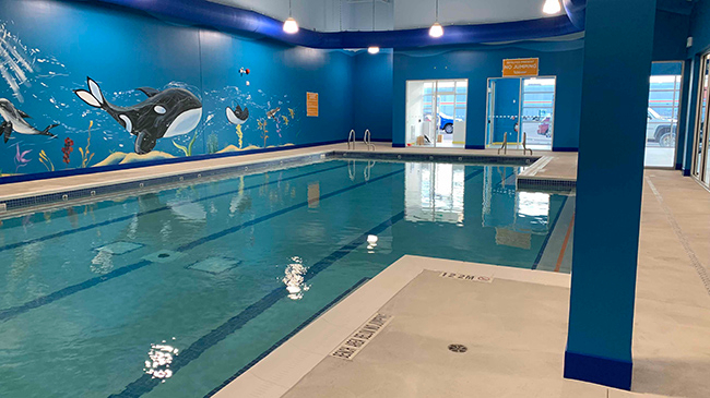 Goldfish Swim School's indoor teaching pool