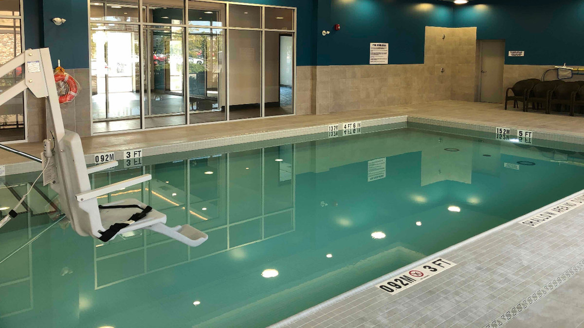 Pool at Hampton Inn & Suites in Waterloo, Ontario