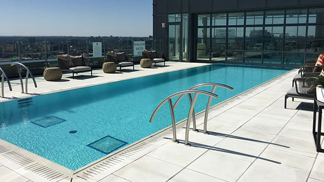 Rooftop pool at the Hotel X in Toronto, Ontario