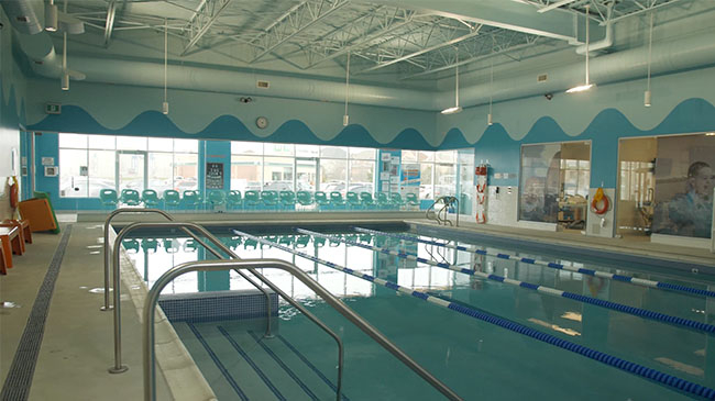 Russell Aquatics Swim School's indoor teaching pool